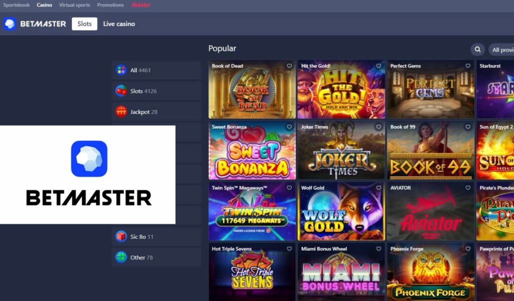 Betmaster Casino Sporting events