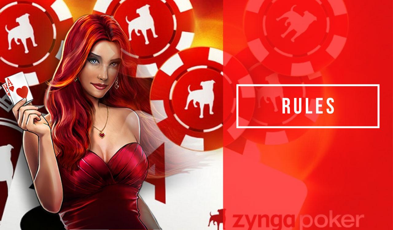 Zynga poker rules while playing